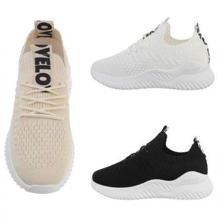 Sneakers sportive in maglia elasticizzate con lacci basse...