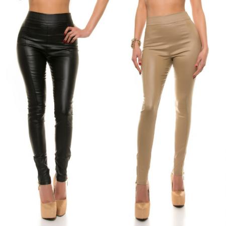 Pantalone pantacollant leggings vita fascia alta basic...