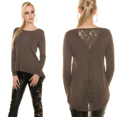 Maglione pullover maglia maglietta lunga strass over size...