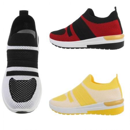 Sneakers in maglia bicolore elasticizzate sportive senza...