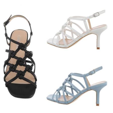 Sandali eleganti da cerimonia trama intrecciata in...