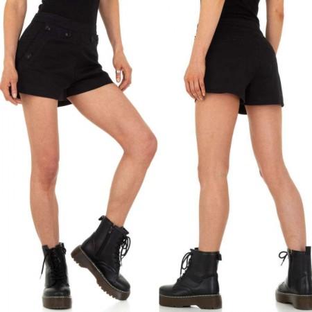 Pantaloncini shorts cori neri a vita alta effetto push up...