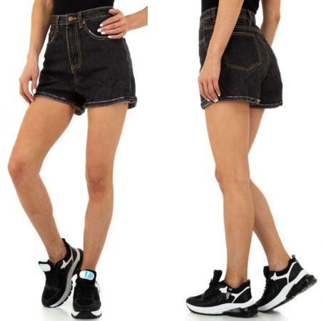 Pantaloncini di Jeans Shorts in denim scuro con bordi...