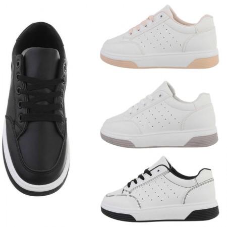 Sneakers ecopelle casual traspiranti alte con chiusura...