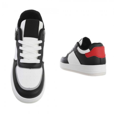 Sneakers casual in ecopelle da passeggio sportive con...