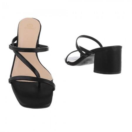Sandali eleganti in ecopelle infradito con tacco medio...