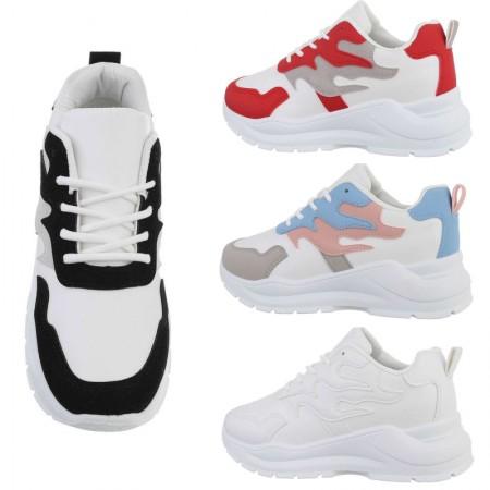 Sneakers sportive da passeggio con zeppa bassa dettagli...