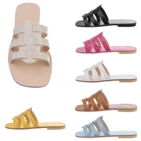 Sandali spuntati in ecopelle effetto pitonato sandaletti...