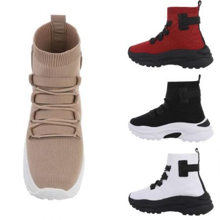 Sneakers sportive a calzino alte alla caviglia con zeppa...