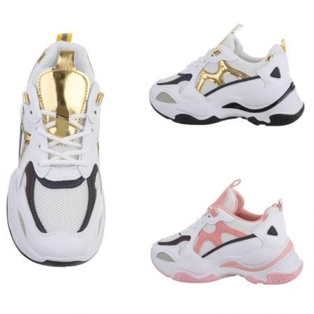 Sneakers sportive da ginnastica in ecopelle e tela con...