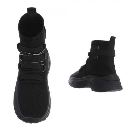 Sneakers alte alla caviglia a stivaletto in tela...