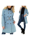 Giacca trench in jeans blue...
