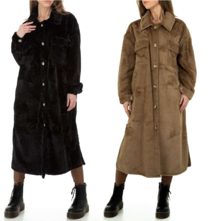 Giacca trench marrone lungo...