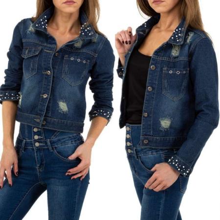Giacca denim blue jeans giacchetta jacket cappotto con...