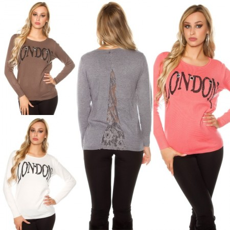 Pull LONDON con pizzo