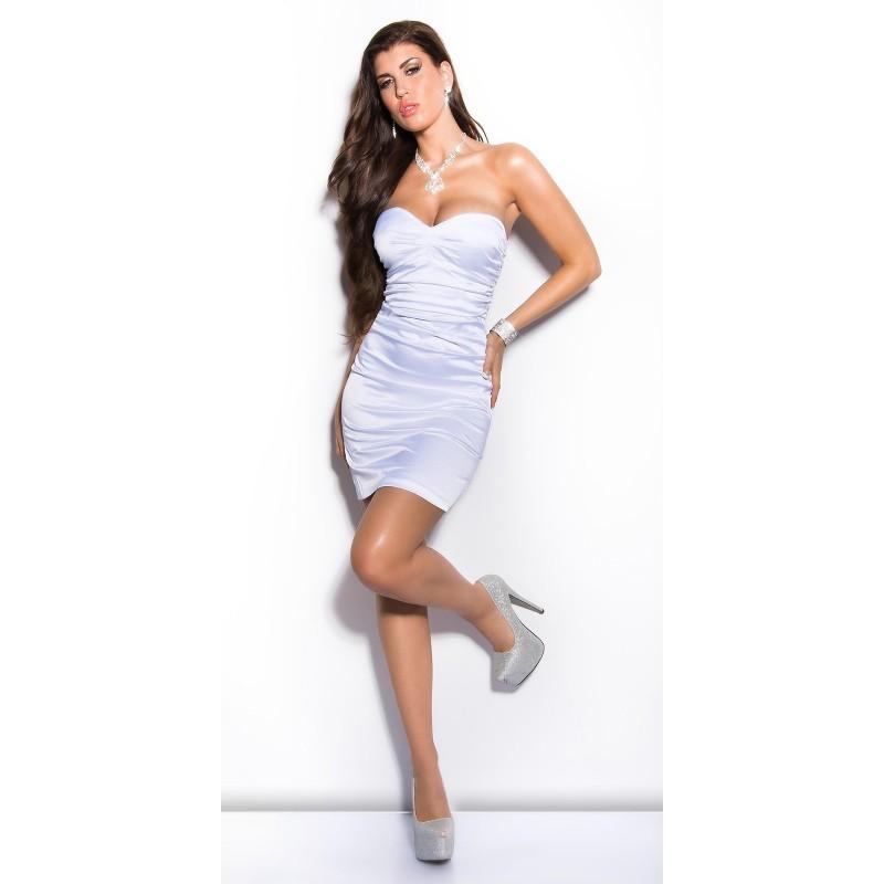 online store cdce3 1f57d Sexy Abito Da Cocktail In Raso Con Corpetto a Cuore