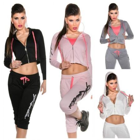 Trendy Giacchetto Gym Con Pancia Scoperta Koucla