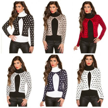 Trendy Cardigan Lucy A Pois
