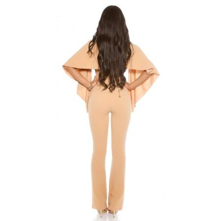 Tredy Pantalone Naomi Similpelle Vita Alta Con Tris Di Bottini Gold