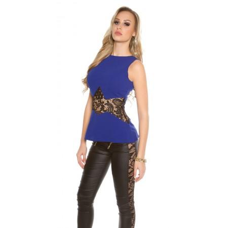 Sexy Pantalone Hannah In SimilPelle Con Skulls e Zip Oro