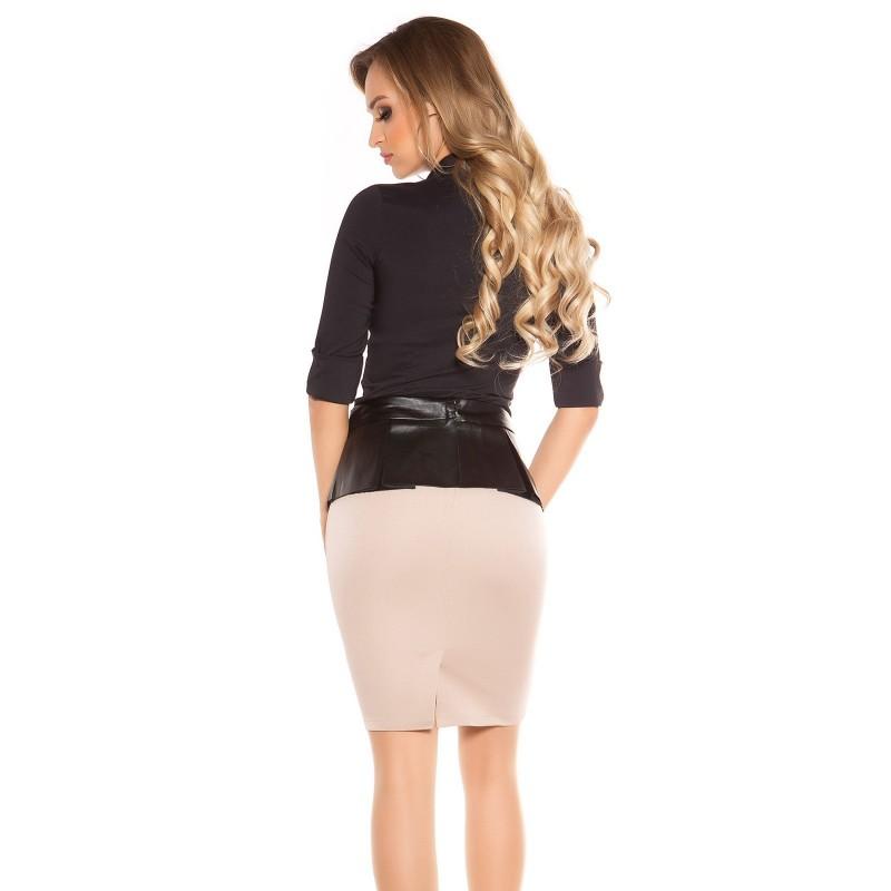 finest selection 71d4a 0d79c Gonna Tubino Attillato Pencil Skirt alla Moda con Fascia Drappeggio  Similpelle
