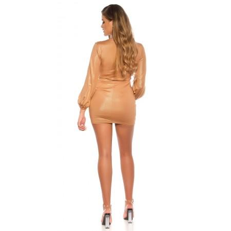Pantalone In Similpelle Donna Attillato Koucla Con Sexy Intreccio Bustier
