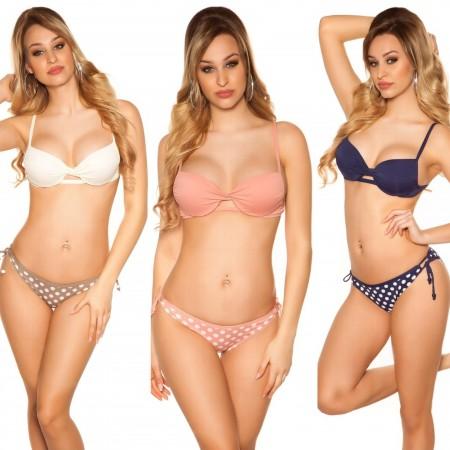 Bikini costume moda mare due pezzi triangolo con spalline...