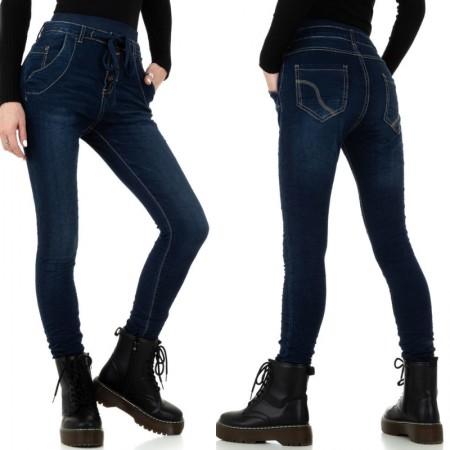 Jeans scuri a vita alta...