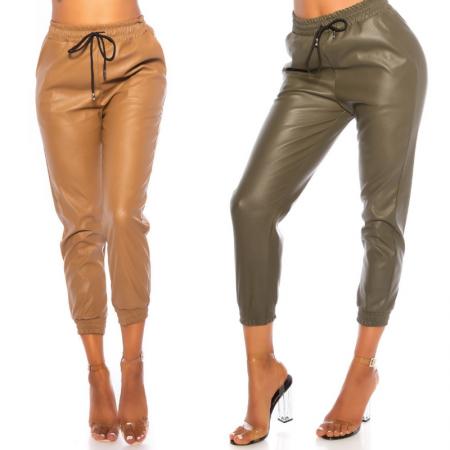 Pantalone pantacollant vita alta leggings in similpelle...