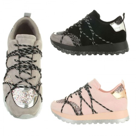 Sneakers donna sportive casual in simil velluto...