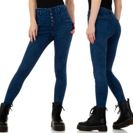 Jeans a vita alta denim scuri skinny gambe slim a...