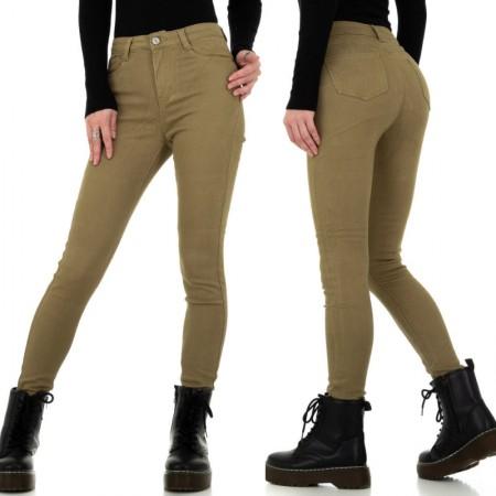 Pantaloni jeans pantacollant chiari a vita alta...