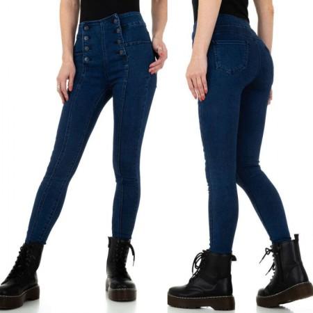Jeans a vita alta corsetto modello skinny aderenti denim...