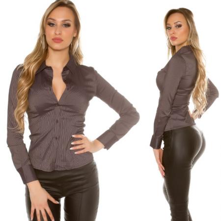 Camicia donna blouse maglia maglietta top elegante da...